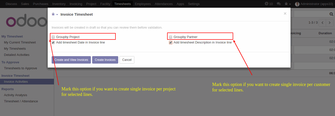 Timesheet Invoicing In Odoo AlmightyCS - Timesheet and invoice